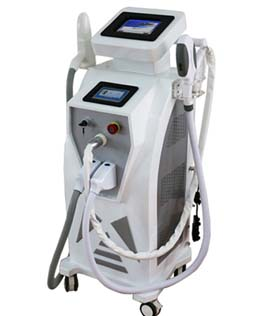 IPL SHR ND YAG LASER RF multifunctional beauty machine