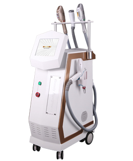 DPL&SHR&ND YAG LASER&RF multifunctional beauty machine
