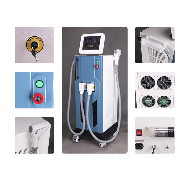 2in1 nd yag laser+808nm diode laser beauty machine