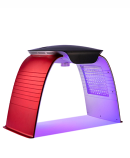 LED PDT light therapy with hot and cooling steam